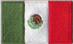 Mexico Embroidered Flag Patch, style 04.